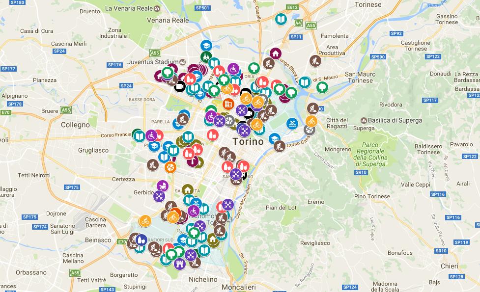 mappa azioni periferie torino